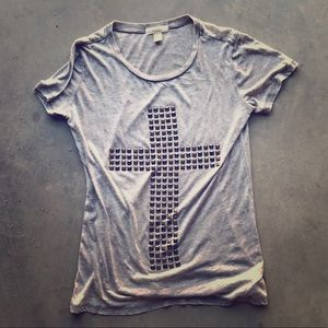 FOREVER 21 | Studded Cross T-shirt
